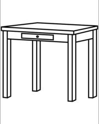 Tisch ausmalbild  Ausmalbilder von Tisch kostenlos zum Ausdrucken