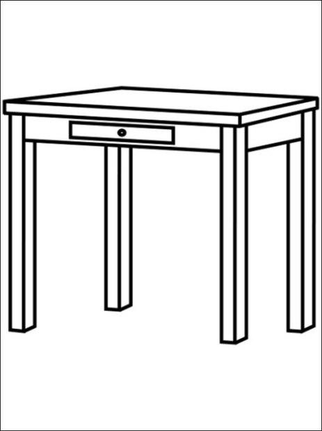 Tisch ausmalbild  Malvorlagen zum Drucken Ausmalbild Tisch kostenlos 2