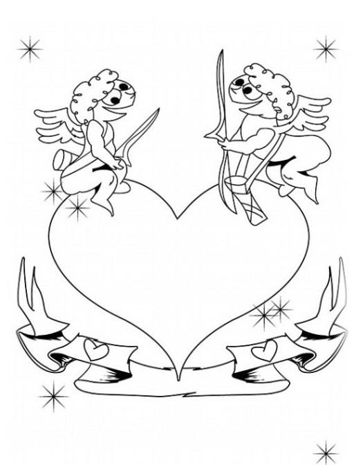 Malvorlagen Zum Drucken Ausmalbild Valentinstag Kostenlos 1