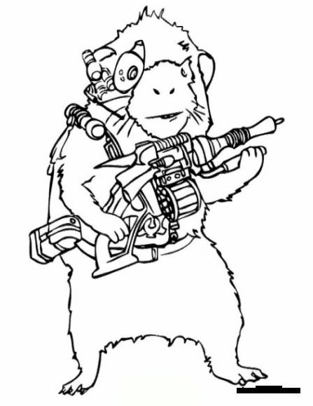 Ausmalbild Waffe kostenlos 1