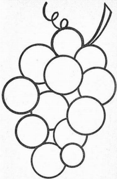 Malvorlagen zum Drucken Ausmalbild Weintraube kostenlos 2