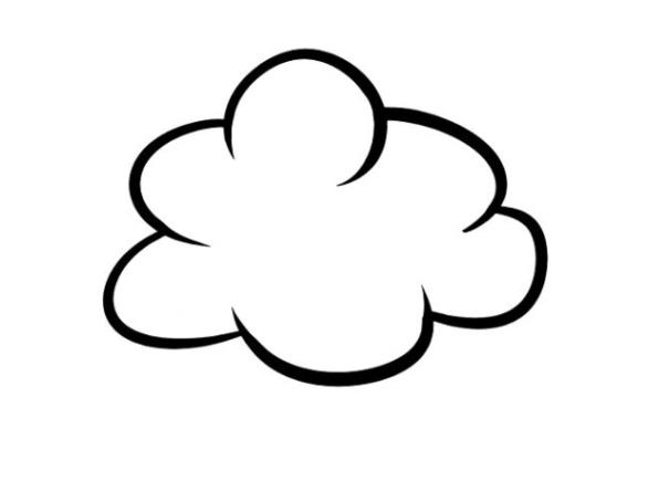 Malvorlagen zum Drucken Ausmalbild Wolken kostenlos 2