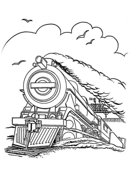 Ausmalbild Zug kostenlos 2