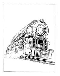 Ausmalbild Zug kostenlos 3