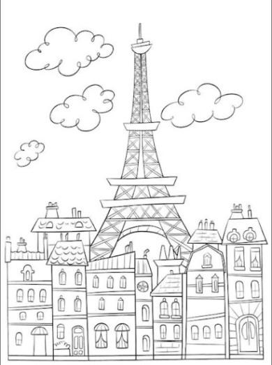 malvorlagen zum drucken ausmalbild eiffelturm kostenlos 2. Black Bedroom Furniture Sets. Home Design Ideas