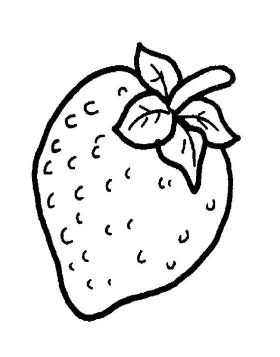malvorlagen zum drucken ausmalbild erdbeere kostenlos 3