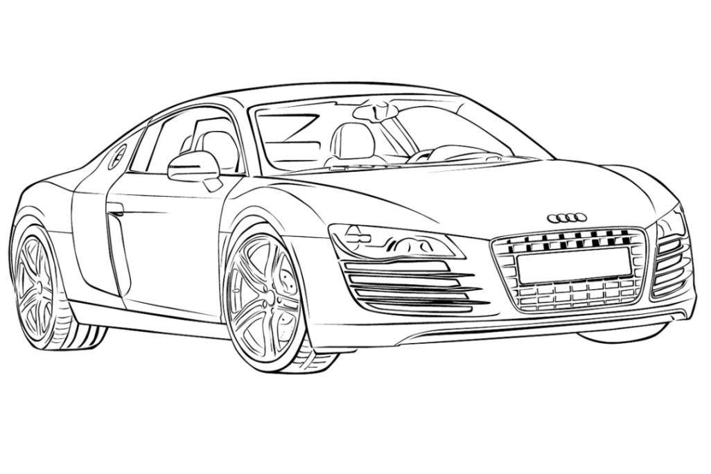 Malvorlage Audi Malvorlagencr
