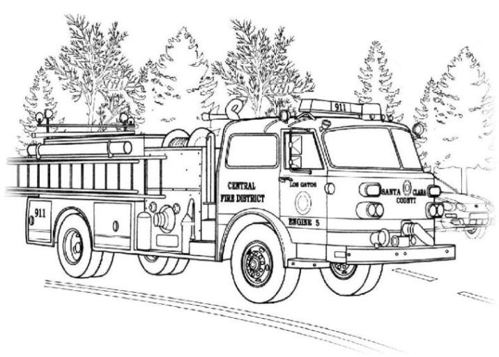 malvorlagen zum drucken ausmalbild feuerwehrwagen kostenlos 1