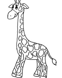 ausmalbilder von giraffe kostenlos zum ausdrucken
