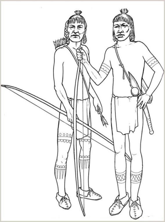 malvorlagen zum drucken ausmalbild indianer kostenlos 2