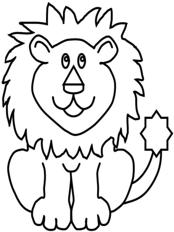malvorlagen zum drucken ausmalbild löwe kostenlos 3