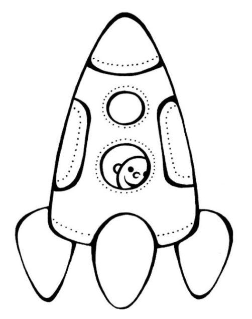 malvorlagen zum drucken ausmalbild rakete kostenlos 2