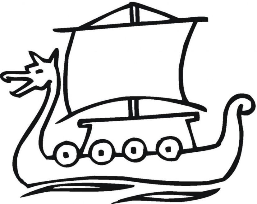 malvorlagen zum drucken ausmalbild wikingerschiff kostenlos 1