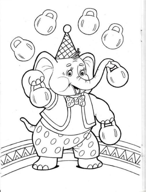 malvorlagen zirkus kostenlos